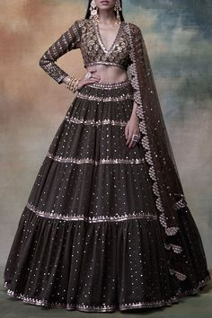 Buy Embroidered Lehenga Set by Vvani by Vani Vats at Aza FashionsYou can find indian fashion and more on our website.Buy Embroidered Lehenga Set by Vvani by Vani V. Party Wear Indian Dresses, Indian Fashion Dresses, Dress Indian Style, Indian Wedding Outfits, Indian Designer Outfits, Indian Outfits, Designer Dresses, Indian Engagement Outfit, Indian Weddings