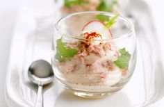 Hammousse met mosterddressing
