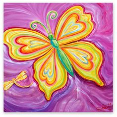 Butterfly Canvas Art | Debbie Marie Arambula | Contemporary Master of Color | Campbell, CA