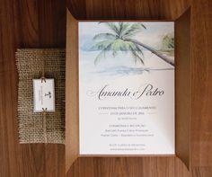 Convite casamento praia   Estúdio Amora   Elo7