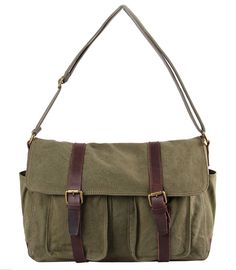 Tom Clovers Women's Men's Canvas Crossbody Messenger Briefcase Bag Handbag Laptop Bag * Click image for more details.