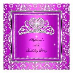 Princess Crown birthday invitation #princess #birthday