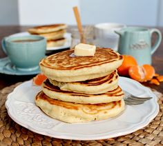 Fluffiest and thickest pancakes ever! Once you try them, they'll be they only ones you'll ever make! » Sounds like it's gonna be pancakes for dinner this evening! YUM!
