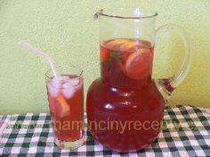 Ledový čaj Mojito, Hurricane Glass, Smoothie, Med, Drinks, Tableware, Drinking, Beverages, Dinnerware
