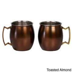 Stainless Steel 16-ounce Moscow Mule Mug (Set of 2) (