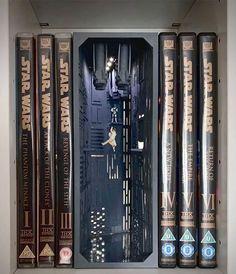 Nook, Star Wars, Miniature Rooms, Cool Books, Altered Books, Shadow Box, Bookshelves, Book Lovers, Book Art