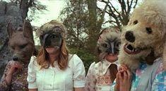 """""""The Wicker Man"""", Robin Hardy, is a really good film. However, I learned from a friend who into paganism that this is THEIR version of ROCKY HORROR SHOW Sci Fi Movies, Scary Movies, Terrifying Movies, Cult Movies, Wicker Man, Animal Masks, Horror Films, Film Stills, Lion Sculpture"""