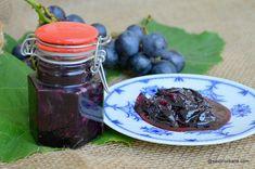 marmelada sau gem de struguri reteta simpla Jam Recipes, Mason Jars, Canning, Eat, Tableware, Desserts, Food, Tailgate Desserts, Dinnerware