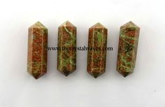 "Unakite 2 - 3"" Double Terminated Pencil"