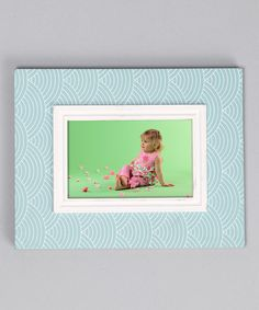 Take a look at this Blue Wave Layered Border Picture Frame by New View on #zulily today!