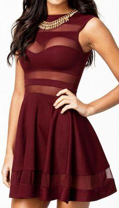 Burgundy Club Dress
