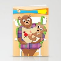 Mom And Baby Reading  Stationery Cards