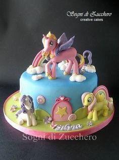 My Little Pony Birthday Cake Girly Birthday Cakes, My Little Pony Birthday Party, Mary Birthday, Mlp Cake, Cupcake Cakes, Cupcakes, Movie Cakes, My Little Pony Cake, Puppy Cake