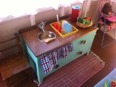 Our cubby house play house kitchen