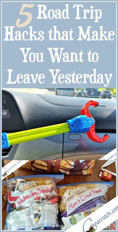 Road Trip Hacks that Make You Want to Leave Yesterday — Chicken Scratch N Sniff This family road trip hacks are great- I especially love the claw!<br> Heading out for a family road trip? Don't leave without reading these road trip hacks first! Road Trip Usa, Road Trip Food, Road Trip Packing, Road Trip Essentials, Road Trip Tips, Road Trip Checklist, Travel Packing, Best Road Trip Snacks, Honeymoon Packing