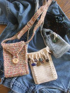 PATTERN Crochet pattern for Small and Sassy Summer Purses to