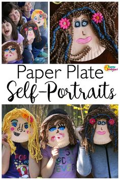 """Paper Plate Self-Portrait Craft for Kids!  Great for an """"all about me"""" project, or a summer camp craft!  Happy Hooligans"""