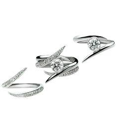 interlocking diamond wedding ring