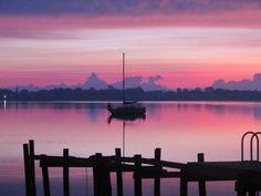 Sunrise near Merritt Island FL Merritt Island, Sunrise, Celestial, Mountains, Nature, Pink, Travel, Outdoor, Outdoors