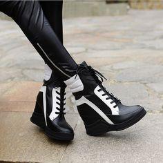 Nouvelle Mode 2015 Lacent Coins Plate Forme Casual Chaussures Femme Patchwork Femmes D'hiver Ou Printemps Noir Blanc Rouge Cheville Femmes bottes dans Femmes de Bottes de Chaussures sur AliExpress.com | Alibaba Group