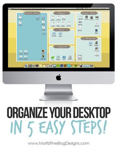 In no time at all I followed these 5 easy steps and turned my computer desktop into an organizer's DREAM!! Super easy, everyone needs to do this! Awesome idea. | www.MoritzFineBlogDesigns.com (scheduled via http://www.tailwindapp.com?utm_source=pinterest&utm_medium=twpin&utm_content=post341763&utm_campaign=scheduler_attribution)