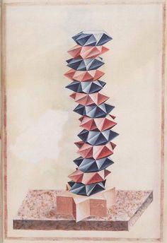 Anonim, XVI, Dibujos geométricos y en Perspectiva -3- on ArtStack #anonim-xvi #art