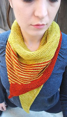 New! Striped Tooth Shawl pattern - only 200 yards of each color!