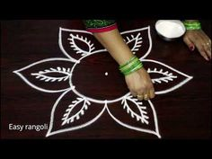 latest rangoli designs with out dots - creative kolam designs - muggulu designs without dots - YouTube