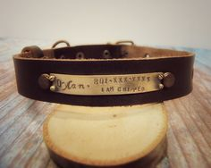 Hey, I found this really awesome Etsy listing at https://www.etsy.com/listing/272106172/dog-collar-dog-tag-leather-dog-collar