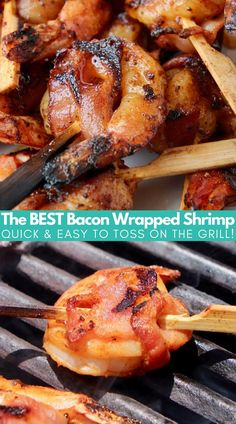 Juicy, flavorful bacon wrapped shrimp skewers are easy to make on the grill in under 30 minutes! This shrimp recipe is also gluten free Bacon Recipes, Shrimp Recipes, Grilling Recipes, Slow Cooker Recipes, Vegetarian Recipes, Grilled Bacon Wrapped Shrimp, Bacon Wrapped Meatloaf, Shrimp Skewers, Bacon On The Grill