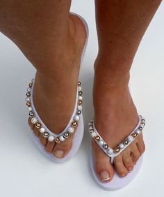 Nicky Beads Flip Flops