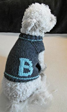 Suéter de perro personalizado. Ropa para perros hechos a mano.