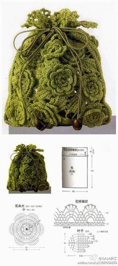 Marvelous Crochet A Shell Stitch Purse Bag Ideas. Wonderful Crochet A Shell Stitch Purse Bag Ideas. Crochet Diy, Crochet Motifs, Crochet Chart, Thread Crochet, Love Crochet, Irish Crochet, Crochet Flowers, Crochet Stitches, Crochet Patterns