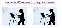 Spot The Differences Painter Picture Puzzle