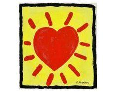Keith Haring, heart, 1980