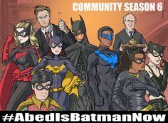 community cast a batman characters by ben deguzman
