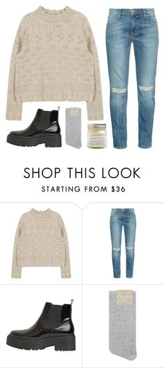"""""""Country house"""" by soym ❤ liked on Polyvore featuring Current/Elliott, Jeffrey Campbell, Falke, Brooklyn Candle Studio and country"""