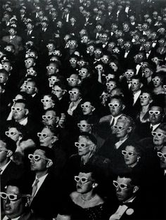Iconic Photo: Watching Bwana Devil in 3D at the Paramount Theater  The iconic photograph by LIFE magazine photojournalist J. R. Eyerman.  Shot at the Paramount Theater in Hollywood in 1952, the image shows the opening-night screening of the first ever full-length, color 3D movie, titled Bwana Devil....