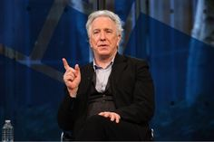 Alan Rickman - this is a screenshot from the January 2012 interview with the NYT