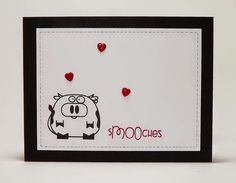 Manitoba Stamper— Paper Smooches Chubby Chums, Versamark Ink and CTMH white paper. The punched hearts were glossed up with Liquid Glass. The faux stitching was drawn with  a PIGMA MICRON .005 (Archival Ink).