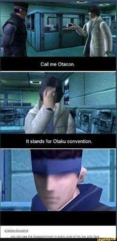Lol Otacon is such a dork