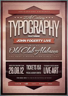 21 Vintage & Retro for Event & Party Flyer Templates