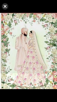 There is so much talent out there coming out with these beautiful creations for Virushka ❤️ ❤️ ❤️ . Dress Design Sketches, Fashion Design Sketchbook, Fashion Design Drawings, Fashion Sketches, Fashion Drawing Dresses, Fashion Illustration Dresses, Indian Wedding Couple, Bollywood, Buch Design