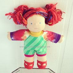 bamboletta COURTNEYCOURTNEY greenstripe/tiedye #courtneycourtney #eco #upcycled #recycled #repurposed #tshirt #vintage #unique #clothing #ooak #designer #fashion #bamboletta #dolls #doll #romper #tiedye