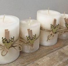 Kerzen hübsch schmücken für Weihnachten