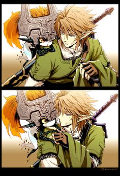 Link And Midna. I ship it! Though I've always envisioned it with her in her Twili form.