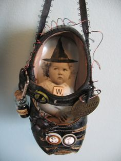 Baby Witch's Shoe (mixed media)  It would be fun to re-create.