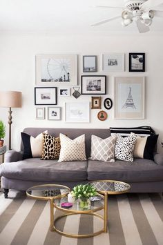 A very eclectic wall gallery that works really well. love this use of different sized frames which could just be expanded upon as I find more images to add.