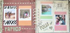 Scrapbookigowy pamiętnik z podróży | >-< Ciasteczka Tynki