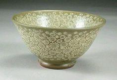 tea bowl, inlaid flower Choi sun Hee, Ryu chang gon pottery